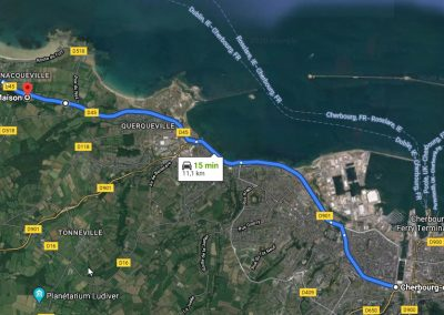 La Blanche Maison - Plan d'accès - De Cherbourg à Urville