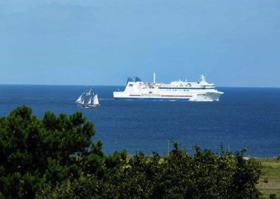 Gîte L'Odyssée - Ferry vu de la terrasse