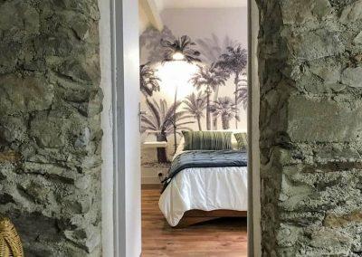 Gîte L'Odyssée - Mezzanine et chambre palmiers